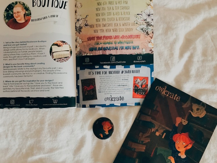 OwlCrate 2018 October9